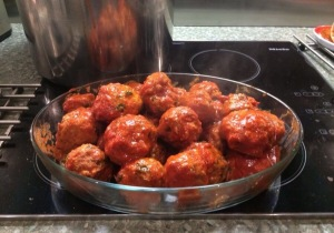 Meatballs ready to eat